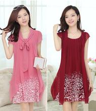 Лето новый большой размер платья / шифоновое платье / мода повседневная одежда / лето большой размер женщин / vestidos / vestidos femininos