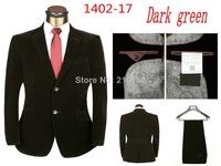 New 2014 Mens Lattice Suits With Pants Fashion Brand Wedding groom suit  For Men (Jacket + Pants) Large Size S M L XL XXL  XXXL