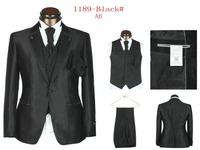 2014 Brand Men Dress Wool groom suit  Fashion Wedding Suits For Men 5 Piece Set (Jacket + Pants + Ma3 Jia3+ Tie + Square Towel)