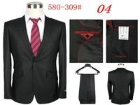 Free shipping high quality normal social male groom suit  male dress suit (coat + pants) size S M L XL XXL XXXL