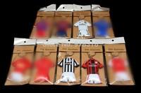 9pcs/lot Soccer team Jersey PVC Keychain 9 x team Football Souvenir Key ring gift Free Shipping