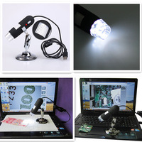 Portable New Arrival 2MP 8 LED USB Digital Microscope Endoscope 2.0 Mega Pixels Magnifier 40X~800X