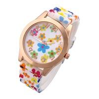 Vintage Watches Fashion New 2014 Analog Women Dress Watch Quartz Silicone Wristwatches Brand Smart Reloj Mujer Casual watch Sale