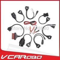 2014 Quality A+ Car Cables For TCS CDP PRO Plus Professional Diagnotic Tool 8Pcs Full Set Car Adapters