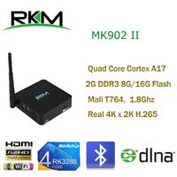 RKM RK3288 Quad Core Cortex A17 Android4.4 TV BOX 2G RAM, 8G ROM,2.4G/5G WIFI, Gigabit LAN, 4K, H.265, Bluetooth 4.0[MK902II/8G]
