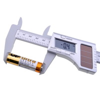 6 x150mm Carbon Fiber Composite Digital LCD Vernier Caliper Solar Battery Power Stainless Steel