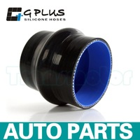 """76mm 3"""" Hump Straight Silicone Hose Intercooler Coupler Tube Pipe 3 PLY Black"""