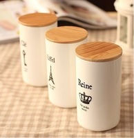 Wholesale creative brief  personality Tower illustrator bone ceramic mug with lid straight cup coffee Readily Cup