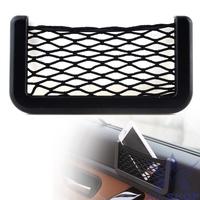 15X8cm Car Storage Organizer Automotive Bag Styling With Adhesive Visor Car Net Pockets Net Car accessories automoviles 10710