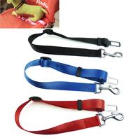 High Quality Adjustable Pet Dog Cat Safety Seat belt For Car Vehicle Travel Seat Belt Clip 3 Colors