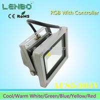 1PS Seven Color 10W/20W/30W/50W/100W LED White Flood Light  110V 220V 240V Warm White floodlight High Power  Lights  Outdoor
