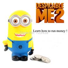 Dave Minion Despicable Me  Piggy Coin Money Bank Strange Couple Cartoon Birthday Gift(China (Mainland))