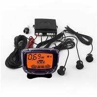 Car Reversing Radar Kit 4 Sensors Backlight Display WIth Monitor System 12V Dual Use  LD-07