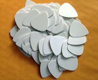 100 pcs Solid White  Blank New Medium 0.71mm Guitar Picks Celluloid No printing
