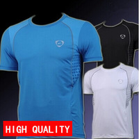 man spring 2014 summer Men Designer Quick Drying Casual Shirt t shirt Slim Fit Sport Shirts plus size M-XXL free shipping