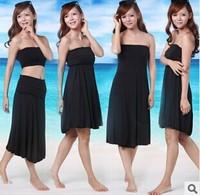 Sexy Women 3 in 1 Strapless Bikini Cover Up Bandeau Dress Swimwear Beach Skirt