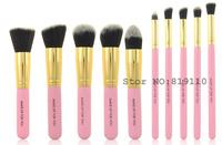Brand 10pcs  professional kabuki Makeup Brush tools kit 10 pcs Cosmetic Facial Powder Foundation  make up Brushes Kabuki Set