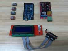 3D Printer kit Reprap Mendel Prusa  4pcs A4988 Stepper 1pc ARDUINO 2560 1pc 2004 screen 1pc RAMPS 1.4 Controller