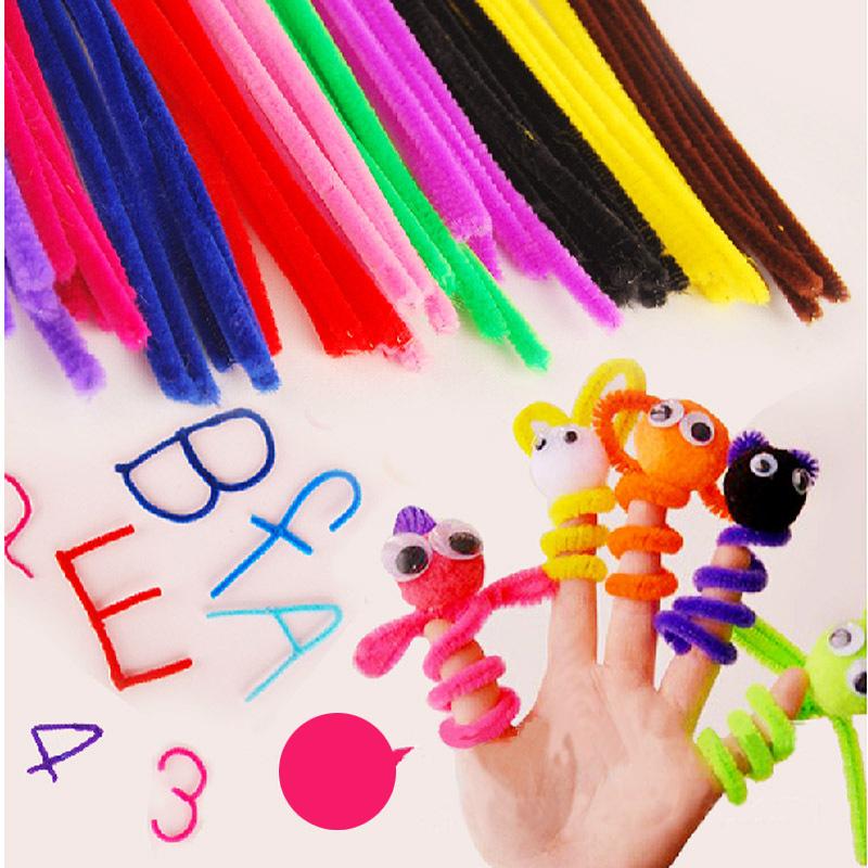 100pcs/set Plush Stick Children's Educational Toys DIY materials handmade art and craft materials(China (Mainland))