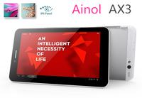 "7"" Ainol Novo 7 AX3 nuomi 3G Phone Call Tablet PC MTK8382 Quad core 16G ROM 1024*600IPS dual SIM Bluetooth Dual Camera Phablet"
