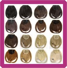 1pcs Fashion Girls Clip On franjas da frente grampo sintético Em Bangs extensão do cabelo 30g(China (Mainland))