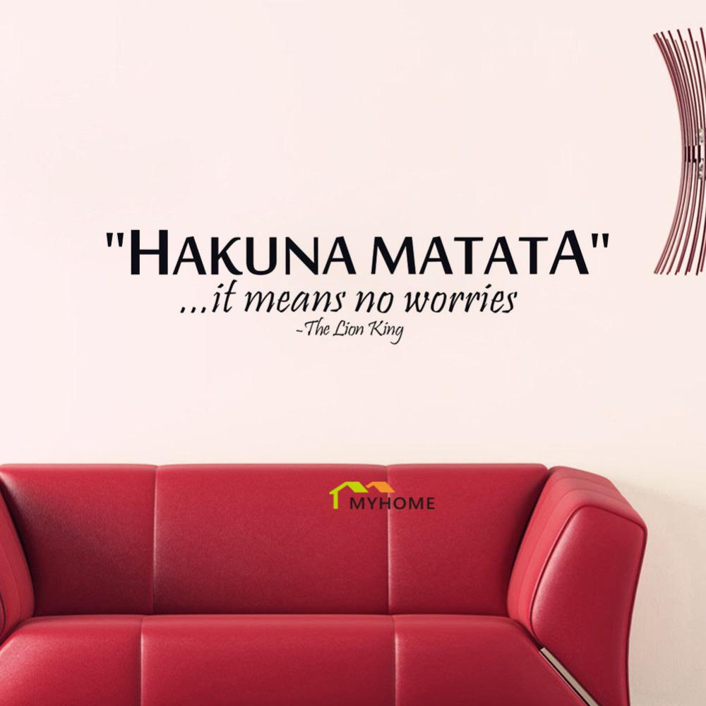 Acheter le roi lion citations hakuna for Decoration quote