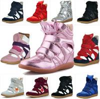Wholesale Isabel Marant Hi-top Wedge women Sneakers,Genuine Leather & PU Red,Heel 6cm,EU 35~42 Women's Shoes sapatos femininos 4