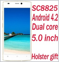 Smartphone android 4.2 F7 P7 S phone Dual core smartphone 5.0 inch SC8825 dual sim with polish romana cetina greek Cell phone