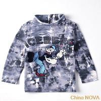 pajamas gings  A   kids wear child cartoon printed kongu man IEBER hot sale ashion boys long sleeve t-shirt shorts baby dress