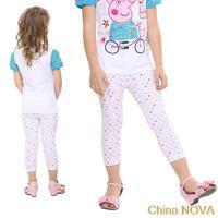 casual dress   cm hot selling  kids wear ashion Polka dots girls' summer leggings antasia inantil