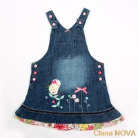 pepa  H m-y piece beautiul butterly embroidery and colourul buttons summer dress or girls meias