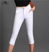 Beige Black White Skinny Women Pants & Capris Women Trousers Femininas 2014 Summer Plus Size 4XL SS14P009