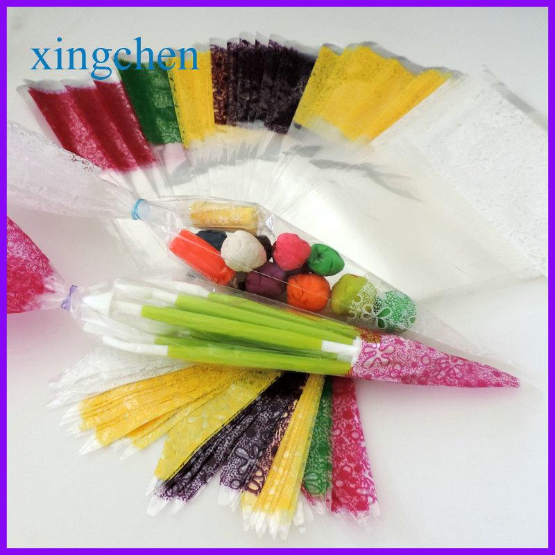 YI wu 100pcs Treat Loot Party Sweet cone shaped candy bags(China (Mainland))