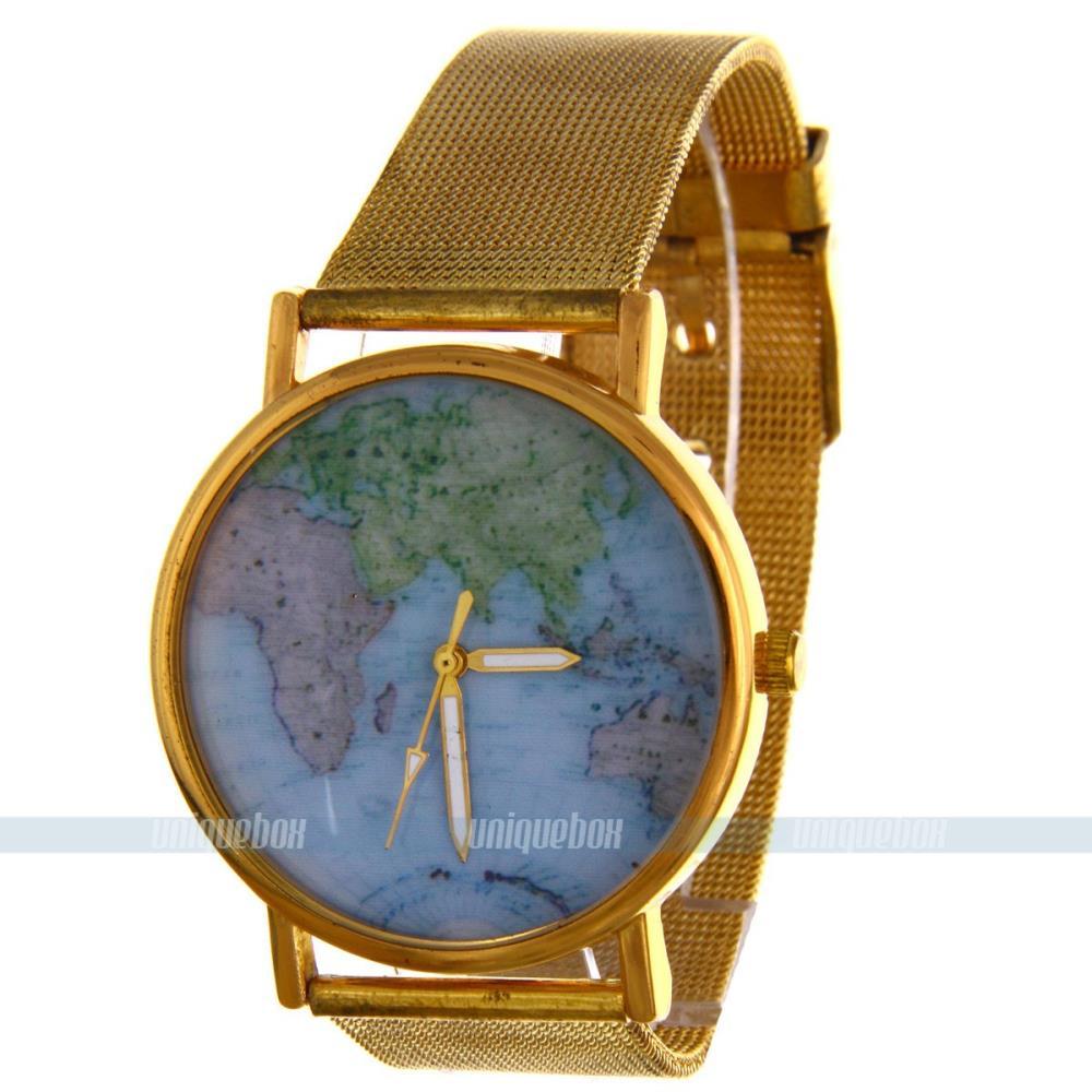 2014 tecelagem quartzo banda corda com cristal pulseira Jóias mapa mulheres se vestem mulheres relógios de pulso para bz5166 frete grátis(China (Mainland))