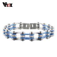 Fashion bracelets for women and men stainless steel bike chain bracelet jewelry