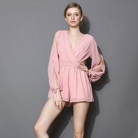 Chiffon Rompers jumpsuit Women macacao feminino e macaquinhos female shorts feminino jumpsuits plus size Roupas Femininas