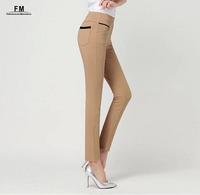 Casual Woman Leggings White Black Autumn Winter Fashion 2014 Plus Size Skinny Pencil Pants Fitness Clothing For Women AW14P011