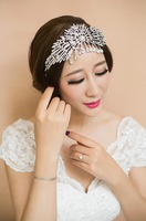 2014 Rushed Bridal Hair Accessories Free Shipping Full Rhinestone Sparkling Veil Tiara Crown For Wedding Prom Party Bride Noiva