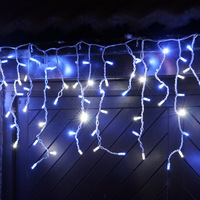 LED Icicle Lights Christmas Xmas String light for decoration 4m 96 led AC 220v EU Plug with end plug 1pc Free Shipping