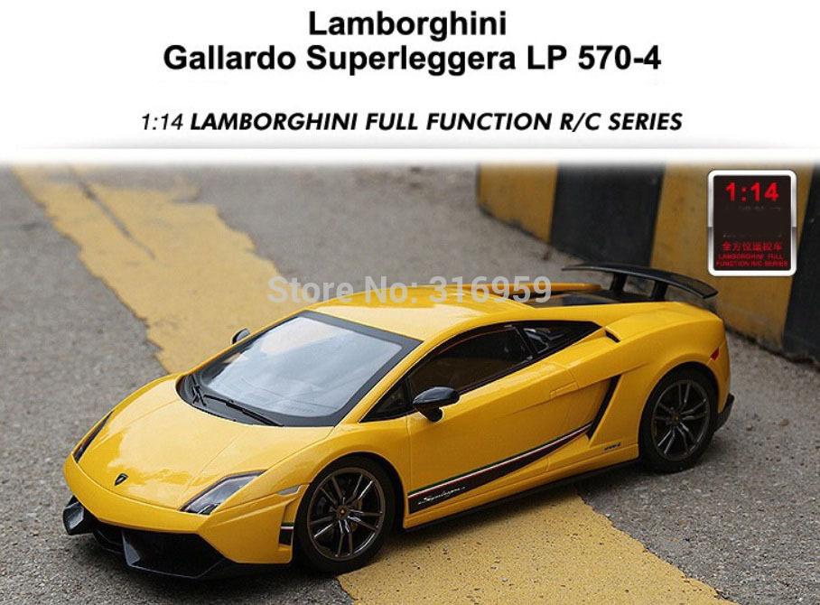 New RC Car Gallardo LP570-4 1:14 Speed Racing Car Remote Control Brand Car model electronic toy(China (Mainland))