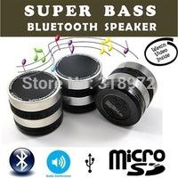 50pcs/lot Free New Mini Super Bass Portable Bluetooth Speaker Wireless speaker FM Radio /TF Card /hands-free For Phone