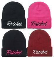 New arrival! Rum & Koke Ratchet  knitted cap/hat, 2014 New HipHop Winter hat/Cap skullie for Men/WOMEN 4colors 5pcs/lot