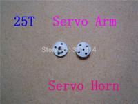 20pcs/lot Aluminum Metal Servo Arm 25T Metal Horns Round Type Disc For MG995 MG996R Futaba Hitec ACE Robot Wholesale