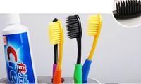 4pcs/pack Wholesale Retail Drop Korea Nano Bamboo Anion Charcoal Health Dual Adult Toothbrush