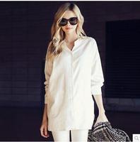 2014 autumn casual loose plus size shirt female fluid