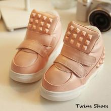 spedizione gratuita 2014 nuovo primavera autunno bambini scarpe prima escursionisti moda sneakers in pelle ragazzi ragazze scarpe sportive per bambini(China (Mainland))