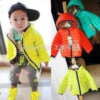 Retail children's classic brand down jacket boys cotton-padded coat girls warm hoodies baby sportswear outerwear winter clothing