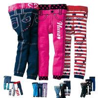 wholsale print cotton skinny Children Pants toddler girl jeans like leggings kids girls pants spring autumn from 2T to 4T small