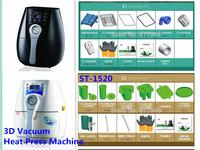 Free by DHL 1 SET ST-1520 3D Mini Sublimation Vacuum Machine Heat Press Machine For Phone Case / Cover Mug Cups Simplify
