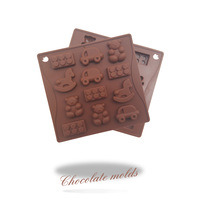 Fondant Cake Decorating Tools Trojan trolley chocolate silicone mold,Silicone Soap Mold,Silicone Cake Mold